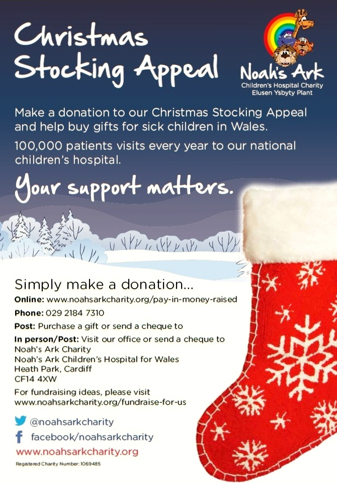 Christmas Fundraising Ideas For Charity.Christmas Stocking Appeal 2015 Noahs Ark