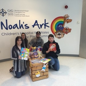 Act Training donate Easter eggs to the Noah's Ark Charity