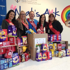 Lloyds Bank donate Easter eggs to the Noah's Ark Charity