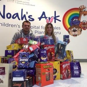 Nation Radio donate Easter eggs to the Noah's Ark Charity