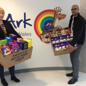 UPS donate Easter eggs to the Noah's Ark Charity