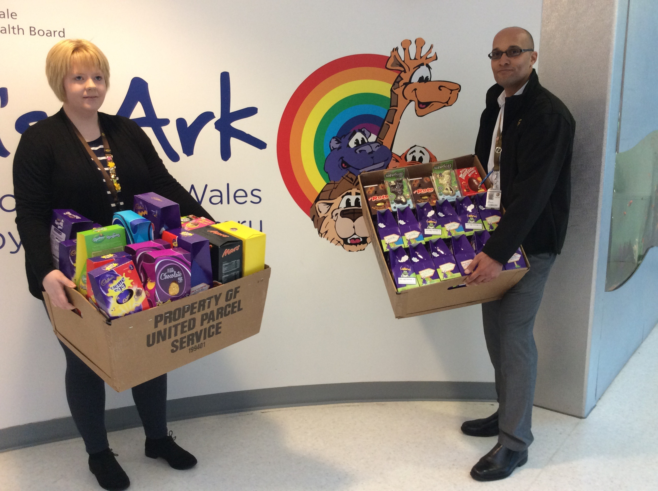 Easter egg donations to the Noah's Ark Charity