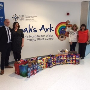 Safforce Recruitment donate Easter eggs to the Noah's Ark Charity