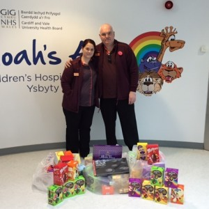 Sainsbury's Rumney Hill donate Easter eggs to the Noah's Ark Charity