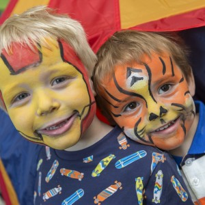 Lloyd and brother with face painting