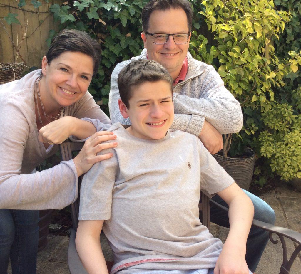 Matt with his mum and dad