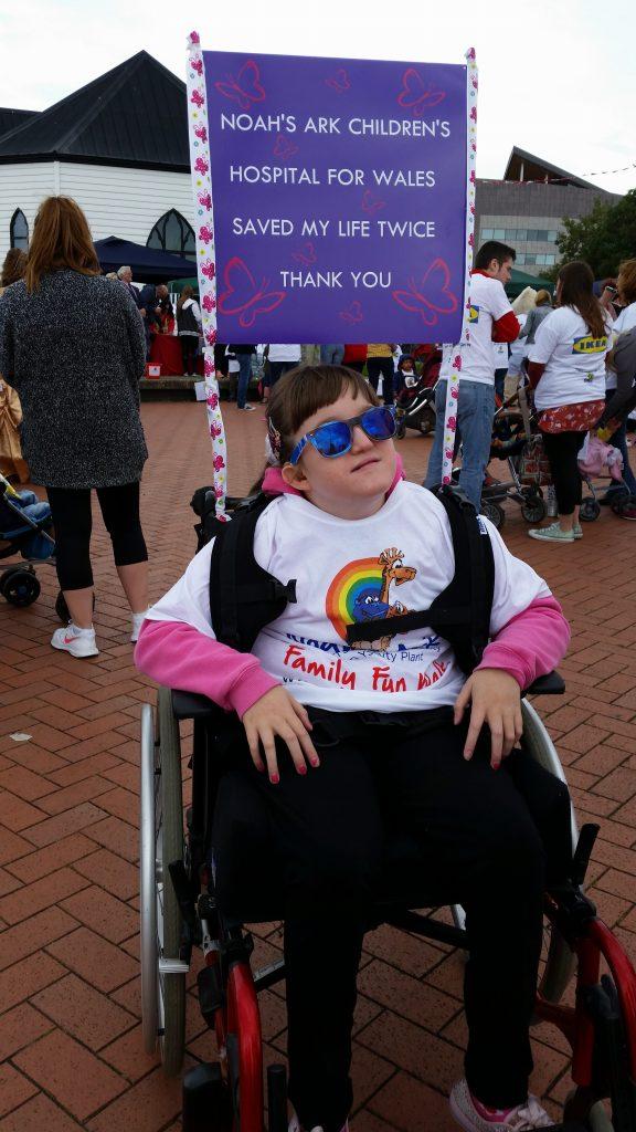 Hannah at the 2015 Family Fun Walk
