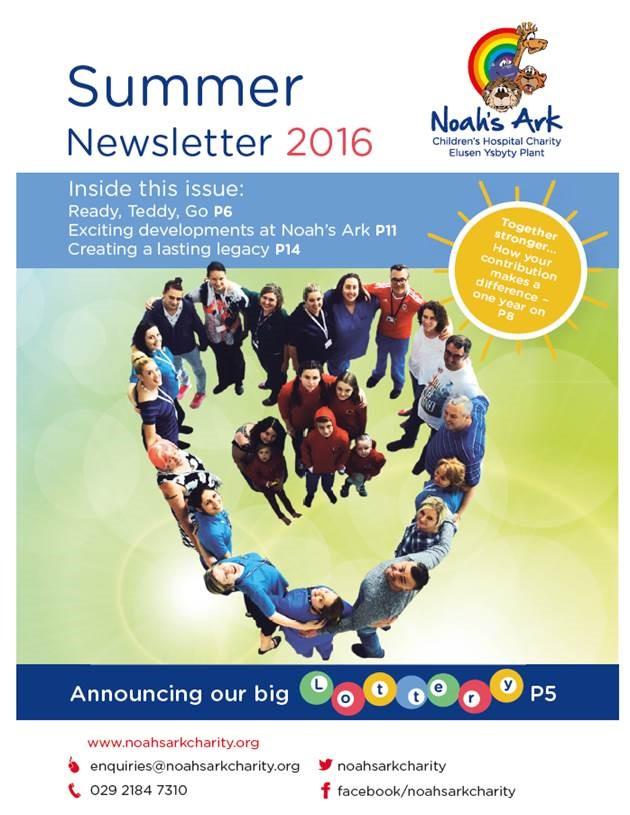 Noah's Ark Summer newsletter