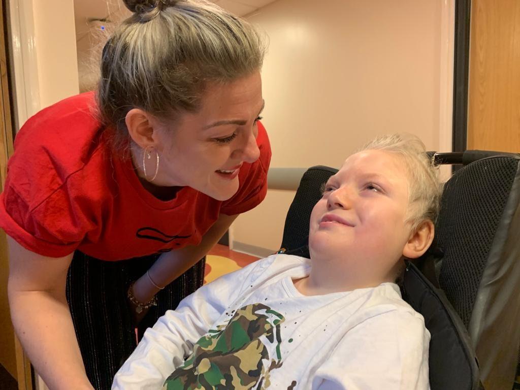 Micaela Turner and son Cai at Noah's Ark Children's Hospital