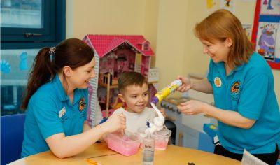 Catrin and Allison Rainbow ward Noah's Ark Children's Hospital