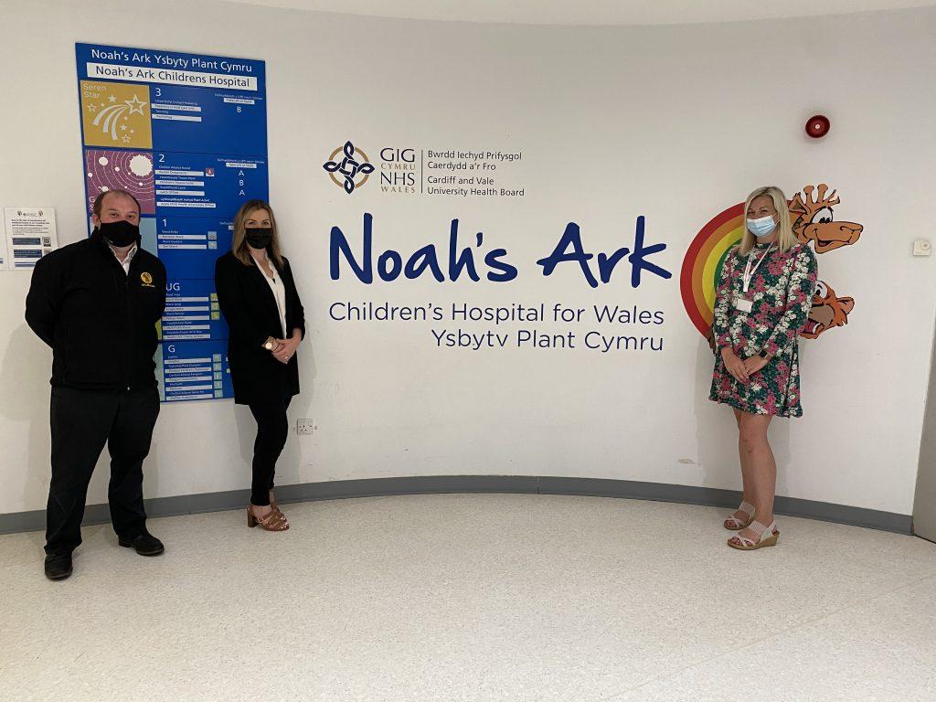 NFU Mutual Llantrisant donate £6000 to the Noah's Ark Charity